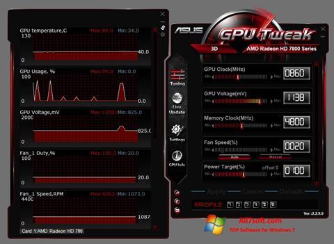 Screenshot ASUS GPU Tweak für Windows 7