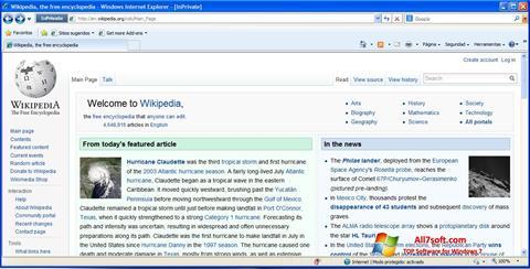 Screenshot Internet Explorer für Windows 7