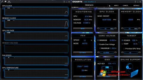 Screenshot GIGABYTE OC Guru für Windows 7