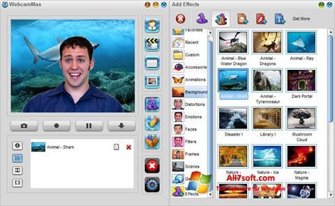 Screenshot WebcamMax für Windows 7