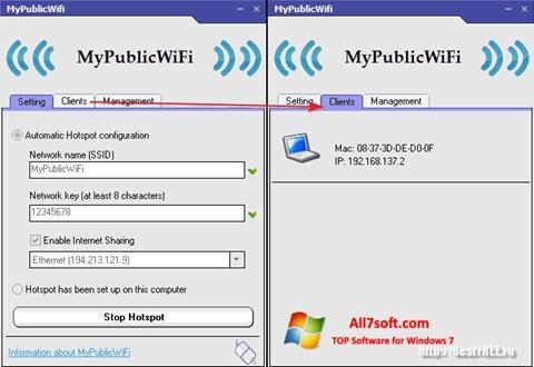 Screenshot MyPublicWiFi für Windows 7