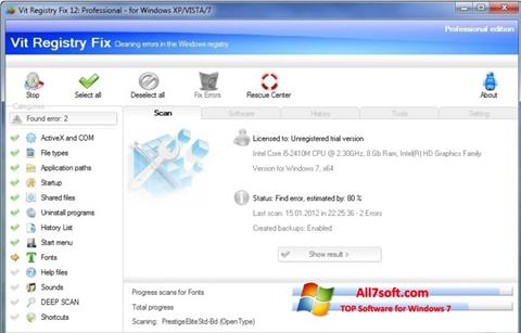 Screenshot Vit Registry Fix für Windows 7