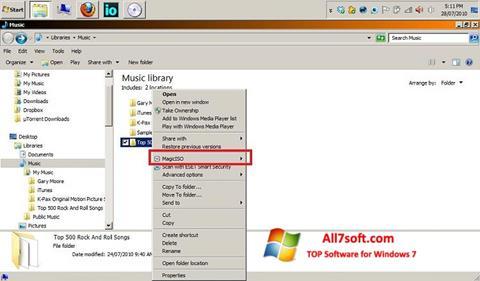 Screenshot MagicISO für Windows 7