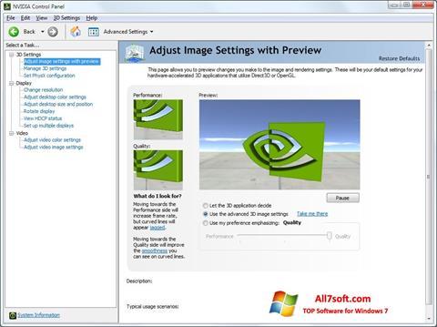 Screenshot NVIDIA ForceWare für Windows 7