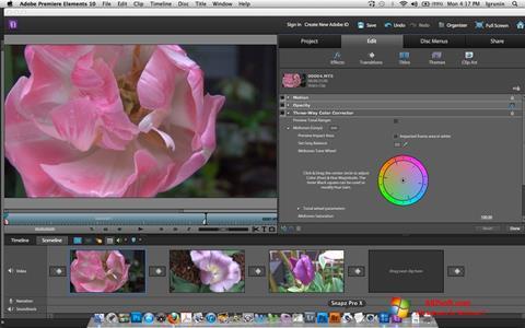 Screenshot Adobe Premiere Elements für Windows 7