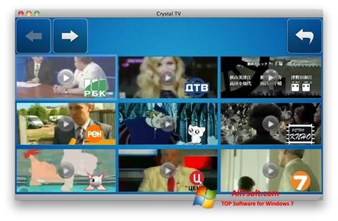 Screenshot Crystal TV für Windows 7
