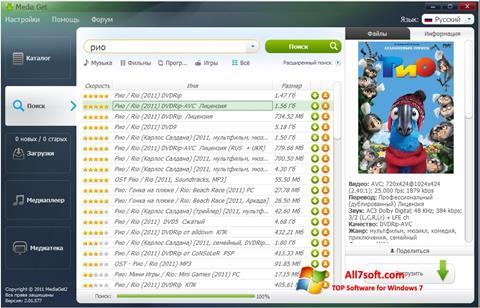 Screenshot MediaGet für Windows 7