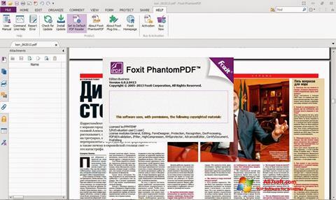 Screenshot Foxit Phantom für Windows 7