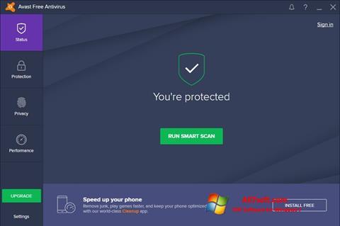 Screenshot Avast Free Antivirus für Windows 7