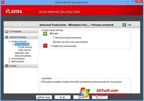 Screenshot Avira Internet Security für Windows 7