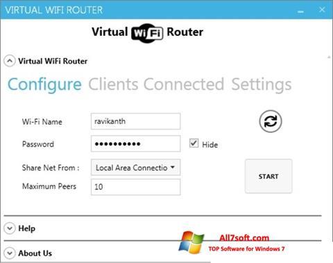 Screenshot Virtual WiFi Router für Windows 7