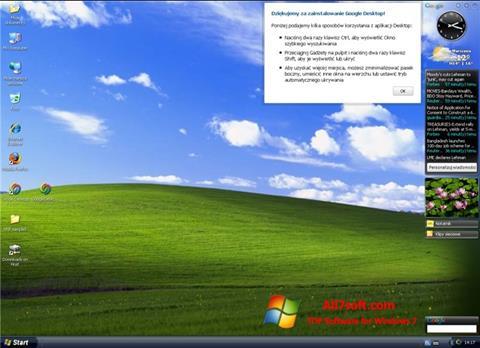 Screenshot Google Desktop für Windows 7