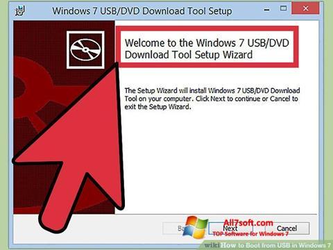Screenshot Windows 7 USB DVD Download Tool für Windows 7