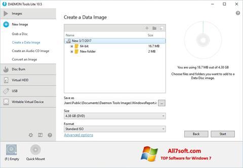 Screenshot DAEMON Tools Lite für Windows 7