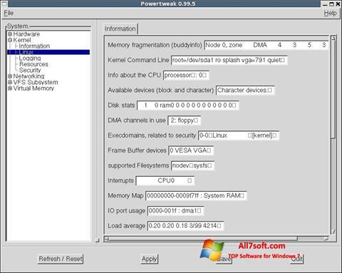 Screenshot PowerTweak für Windows 7