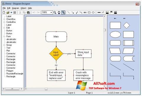 Screenshot Diagram Designer für Windows 7