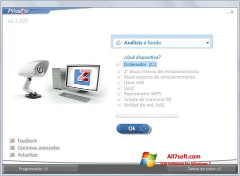 Screenshot PrivaZer für Windows 7