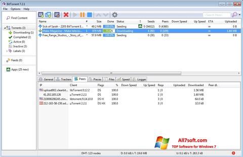 Screenshot BitTorrent für Windows 7