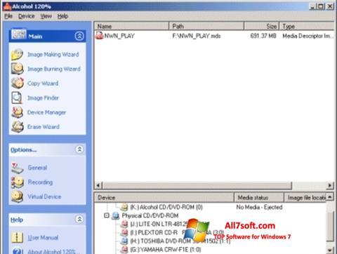Screenshot Alcohol 120% für Windows 7