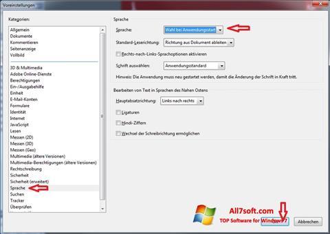 Screenshot Adobe Reader für Windows 7