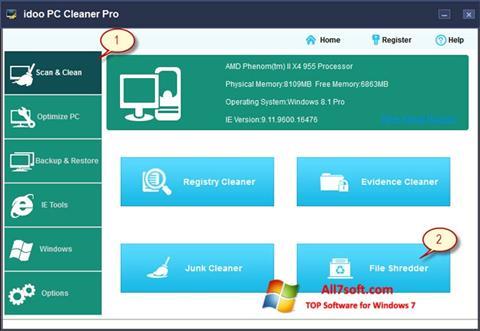 Screenshot PC Cleaner für Windows 7