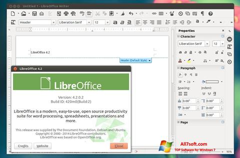 Screenshot LibreOffice für Windows 7