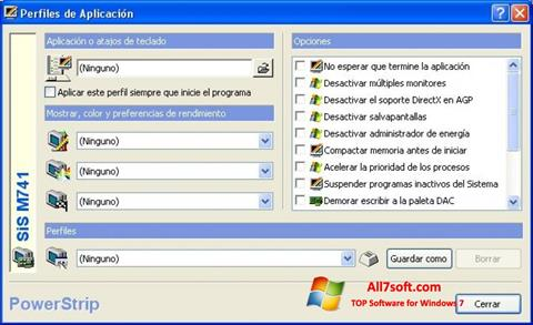 Screenshot PowerStrip für Windows 7