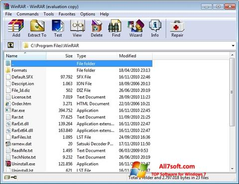 Screenshot WinRAR für Windows 7