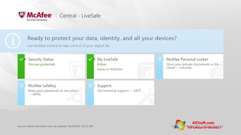 Screenshot McAfee LiveSafe für Windows 7