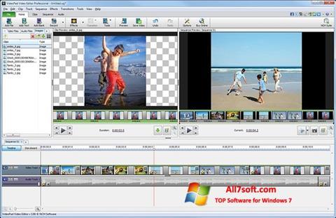 Screenshot VideoPad Video Editor für Windows 7