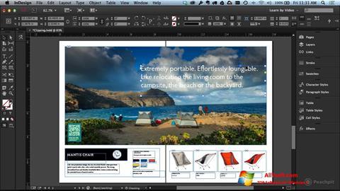 Screenshot Adobe InDesign für Windows 7