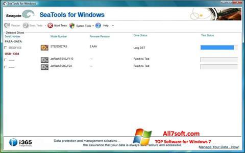 Screenshot Seagate SeaTools für Windows 7