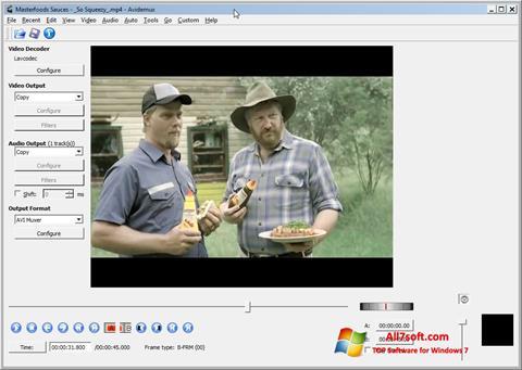Screenshot Avidemux für Windows 7