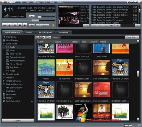 Screenshot Winamp für Windows 7