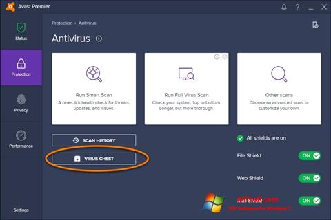 Screenshot Avast für Windows 7