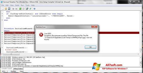 Screenshot Inno Setup für Windows 7