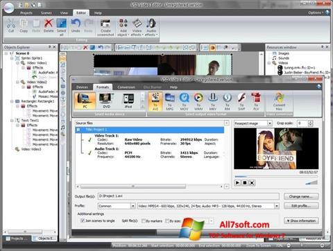 Screenshot Free Video Editor für Windows 7