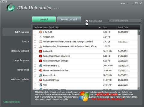 Screenshot IObit Uninstaller für Windows 7