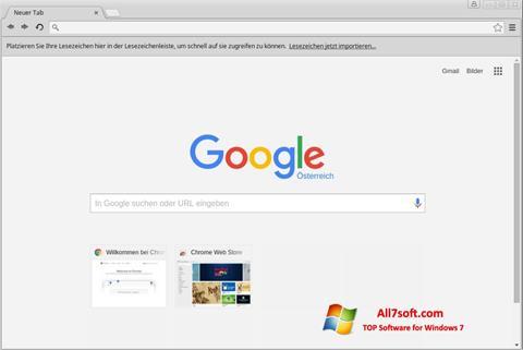 Screenshot Google Chrome für Windows 7