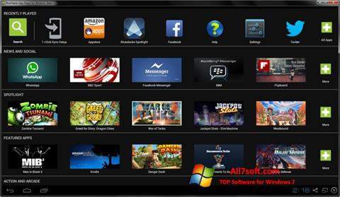 Screenshot BlueStacks für Windows 7