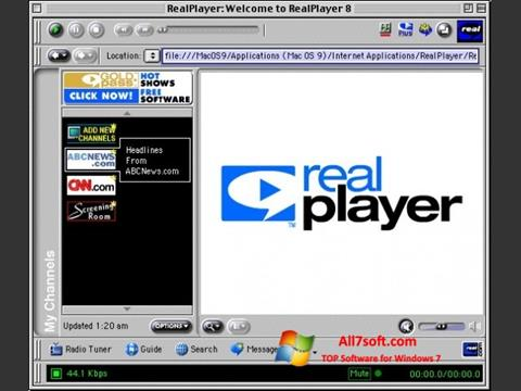 Screenshot RealPlayer für Windows 7