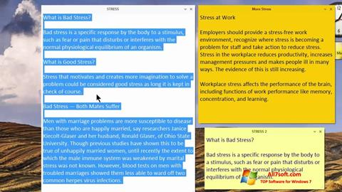 Screenshot Simple Sticky Notes für Windows 7