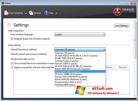 Screenshot Fast Folder Eraser für Windows 7