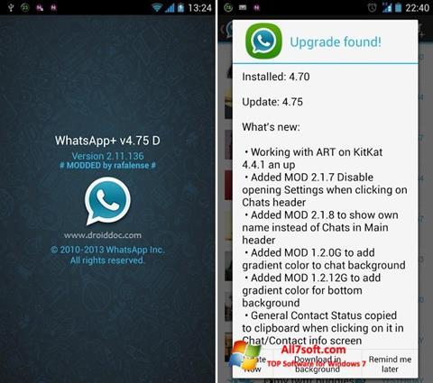 Screenshot WhatsApp Plus für Windows 7