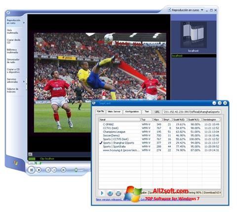 Screenshot SopCast für Windows 7
