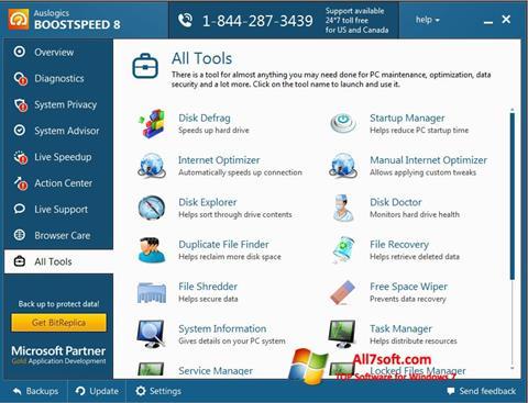 Screenshot Auslogics BoostSpeed für Windows 7