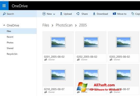Screenshot OneDrive für Windows 7