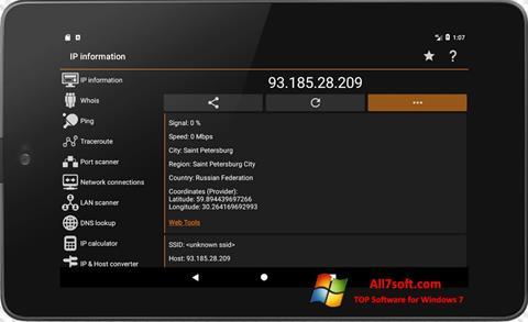 Screenshot IP Tools für Windows 7