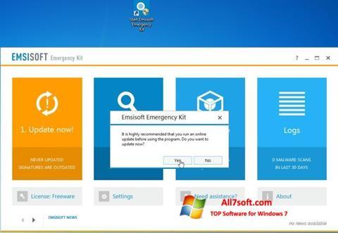 Screenshot Emsisoft Emergency Kit für Windows 7