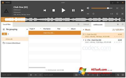 Screenshot AIMP für Windows 7